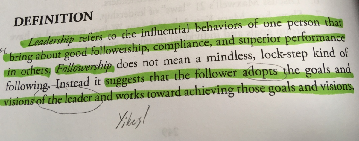 A Followership Definition of Servant Leadership?